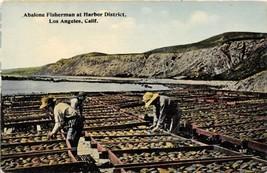 Abalone Fisherman Harbor District Los Angeles California 1910c postcard - $7.87
