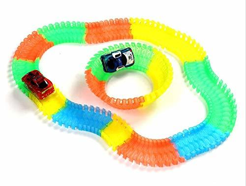 Maru ENG Toys Twist Ssing Ssing Track LED Racing Car Vehicle Luminous Track Toy