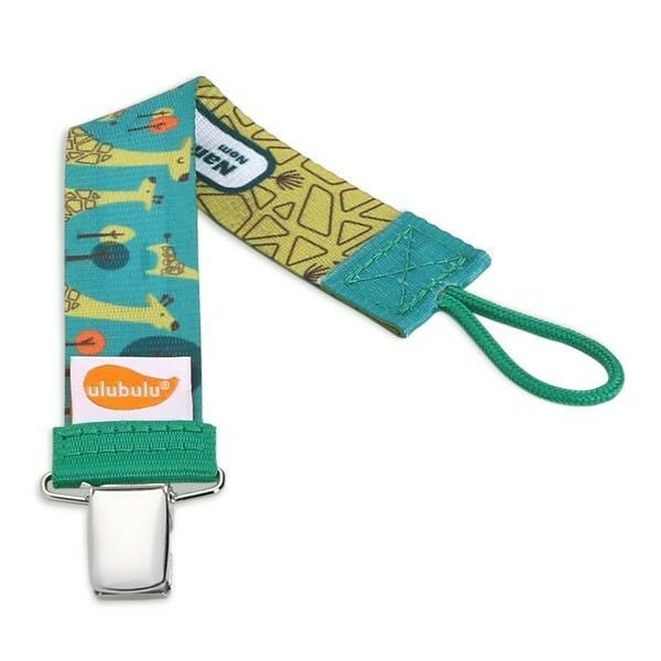 Primary image for Giraffe Pacifier Clip - Green - Ulubulu - Unisex - Avent - NUK - Universal Clip