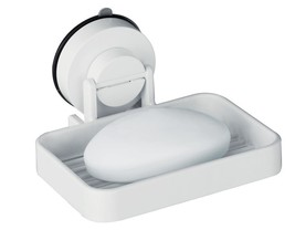 Gecko Soap Dish White - Quick Lock Suction Cup Fitting No Nails Needed - $12.46