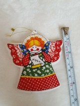 Vintage Angel Noel Fabric Christmas xmas tree  Ornament Decoration pre-o... - $19.80