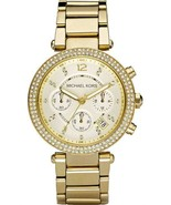 Michael Kors MK5354 Parker Gold Champagne Dial Women's Watch - $129.68