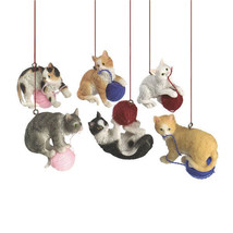Cats with Yarn Ornaments - $12.95
