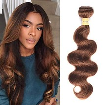 WOME Brazilian Virgin Human Hair 1 Bundle Medium Brown Hair Bundles Body Wave Hu