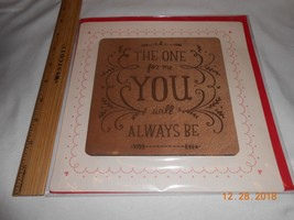New Hallmark wooden Valentine card & envelope: The One for Me will alway... - $8.90