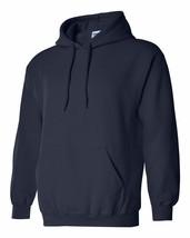 7 Gildan Navy Adult Hooded Sweatshirts Bulk Wholesale Lot S-XL Hoodie Jumpers - $86.13