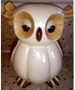 Shiny Fat Owl Figurine Brown Ceramic - $19.79