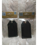 12 Chalkboard Tags Large Rectangle  With Ties - $9.89