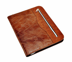 Brown - A4 soft Touch Professional Portfolio File Folder With Calculator... - $19.16