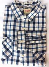 Levi's Men Dress Shirt Long Sleeve Blue Beige Plaid L/S XL Cotton Cowboy... - £19.49 GBP