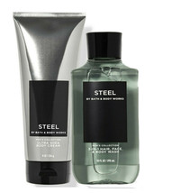 Bath & Body Works Steel Body Cream + 3-in-1 Hair, Face & Body Wash Duo Set - $34.95