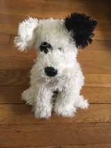 ! 2009 Ty Classics Shaggy WHITE Puppy DOG STUFFED PLUSH Animal SOFT TOY - $9.89