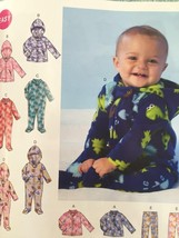 Mccalls Sewing Pattern 7039 Infants Jackets Bodysuits Pants Size NB-XL New - $17.46