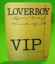 Loverboy Lovin Every Minute Of It Tour VIP Back Stage Pass Original 1985... - $14.80