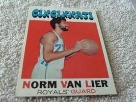1971/72 Topps #19 Norm Van Lier Royals Near Mint / Mint Or Better ! - $39.99