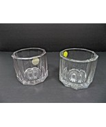 Vintage Mid Century Elegant Heisey pair of heavy glass marked H - $40.00