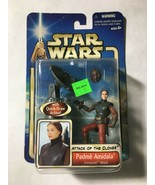 Star Wars 2002 AOTC Padme Amidala Coruscant Attack With Quick-Draw Action - £4.55 GBP