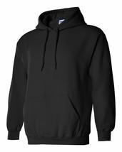 7 Gildan Heavy Blend BLACK Adult Hooded Sweatshirts Bulk Lot Wholesale S M L XL - $83.22