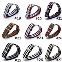 Top-Quality-2018-Watch-Bands-Strap-16-18-20-22-24mm-Men-Women-Fabric-Nyl... - $6.96