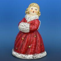 Red Angel Christmas Choir Bell Figurine c.1979 Goebel W. Germany image 5