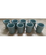 Corning Mugs Cups Set 8 Light Blue 10 oz kitchen heart Dishwasher Microw... - $47.51