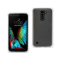 REIKO LG K10 MIRROR EFFECT CASE WITH AIR CUSHION PROTECTION IN CLEAR - $7.94