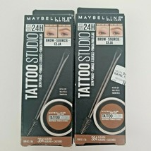 2x Maybelline 384 Auburn Castaño Tattoo Studio Brow Pomade 24 Hrs Waterproof - $13.99