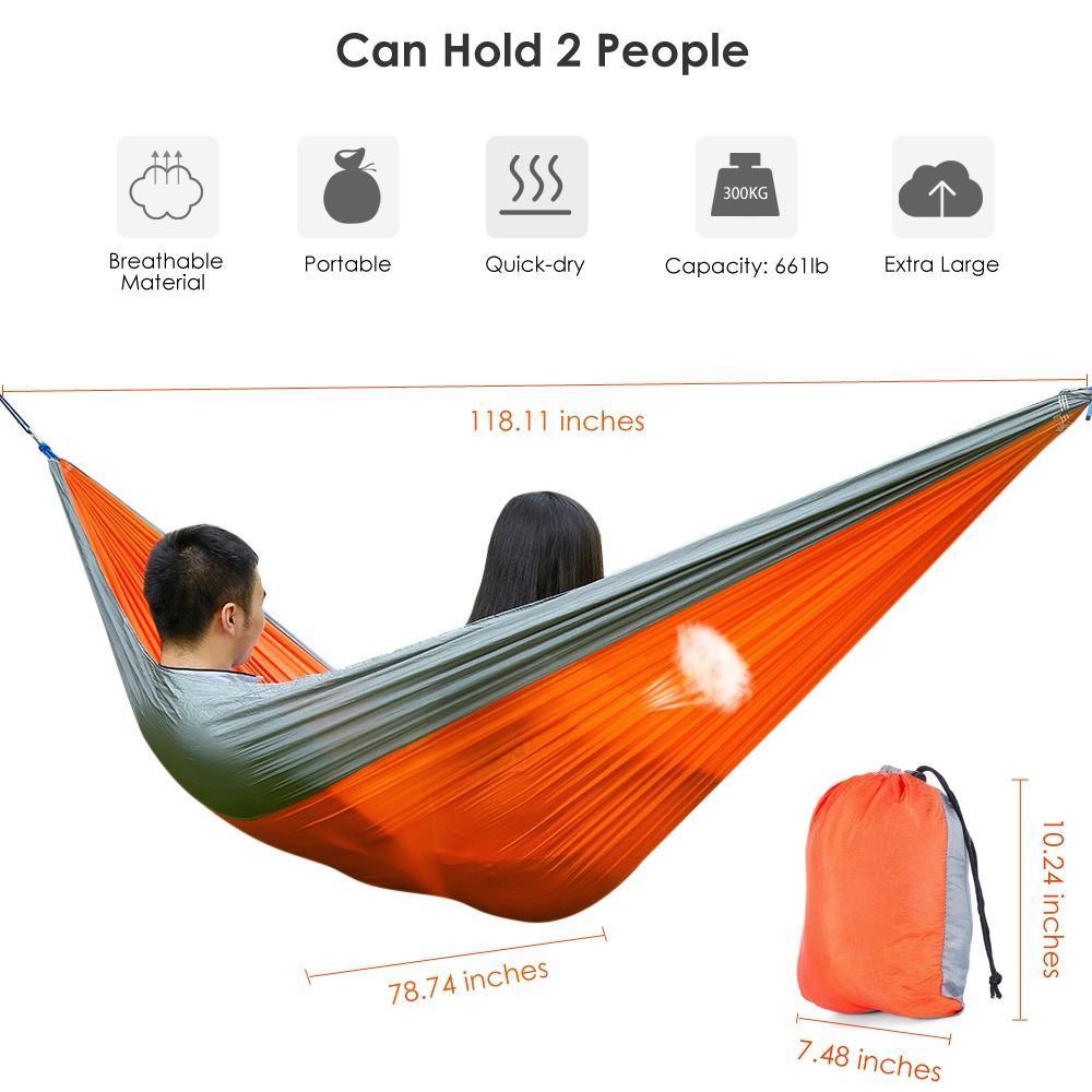 3 x 2M Two Person Parachute Nylon Fabric Hammock