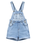 js15 Celebrity Style Vintage White Wash Womens Denim Overall Shorts - $49.99