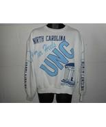 Vintage 80s Majestic 1988 North Carolina Tarheels Allover Print Sweatshi... - $249.99