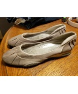 Women's Nike Air Cole Haan Silver Gray Pewter Flats Slip On Shoes 9.5  lot - $16.74