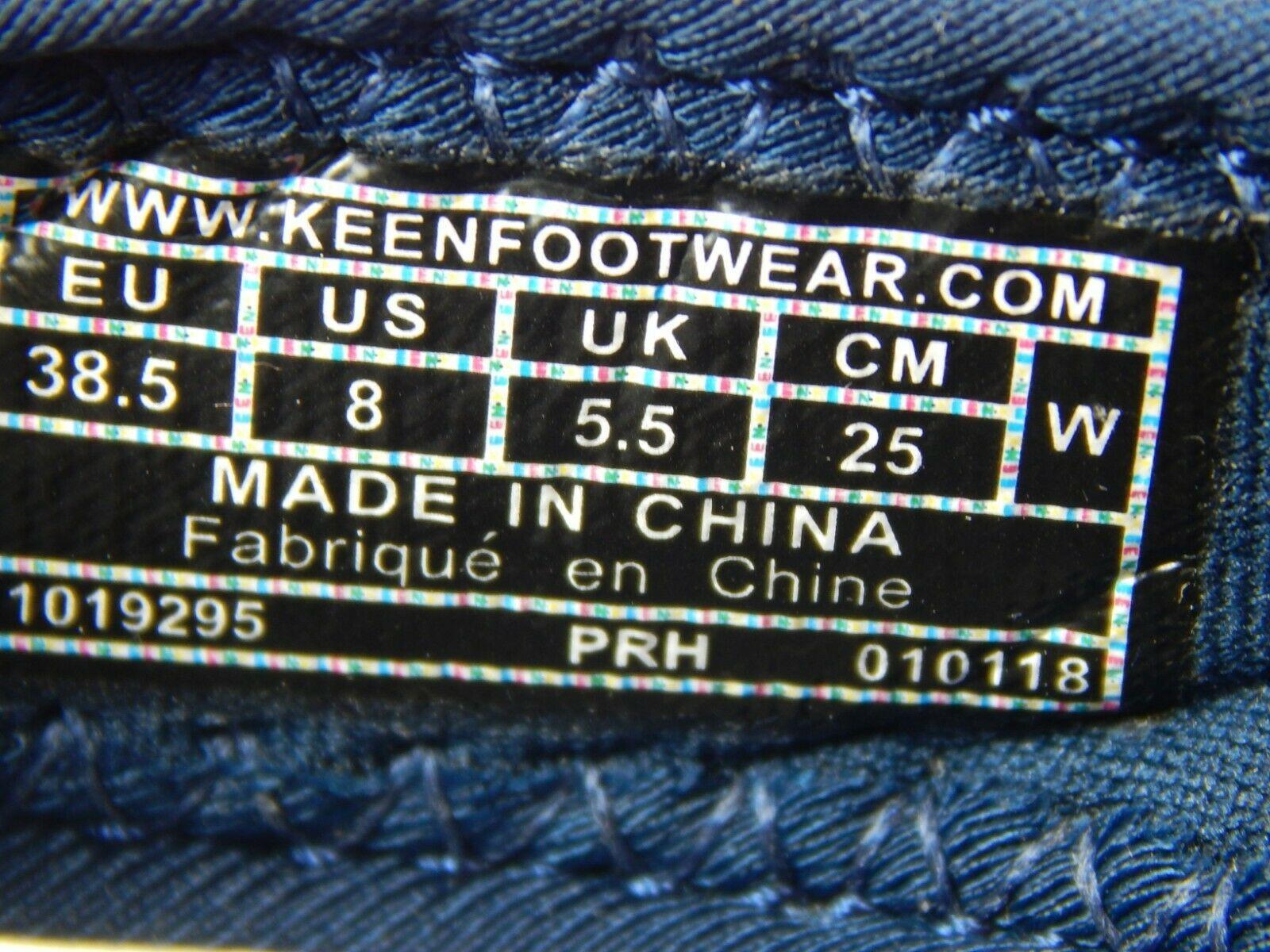 Keen Kona Flip II Sz US 8M (B) Eu 38.5 Mujer Sport Sandalias Azul/Verde 1019295
