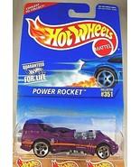 1996 Hot Wheels Blue/White Card #351 POWER ROCKET Purple w/Chrome 5Dot Sp-Varia - $9.95