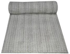 Indian Handmade Kantha Quilt Throw Reversible Bedspread Block Print Quee... - £37.05 GBP