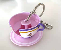 Disney Parks Alice in Wonderland Mad Tea Party Teacup Ride Keychain NEW - $19.90