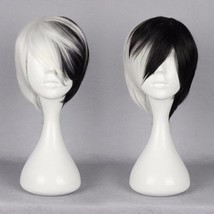 Halloween Deluxe Cruella Deville Black White Short Voluminous Bob Synthetic Wig - $14.59