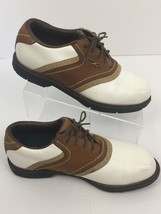 Reebok Golf Shoes DMX Liner White Brown Saddle Oxfords Spikeless Women's... - $17.66
