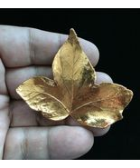 COPPER Leaf Vintage Brooch Pin - 2 1/2 inches - VERY UNIQUE - $25.00