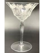 Vintage Morgantown Mayfair Optic Champagne Sherbert (etched Floral Baske... - $13.25