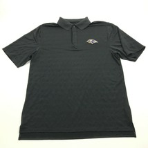 Reebok Balimore RAVENS Polo Black Dry Fit Shirt Size L Large NFL Team Monogram - $23.53