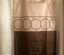 Shower Curtain Brown & Beige Circle Print Standard Size - $8.65