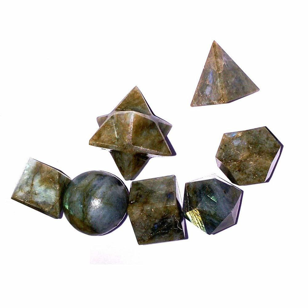 Primary image for Labradolite 7 Piece Platonic Solid Chakra Reiki Healing Crystal Sacred Geometry