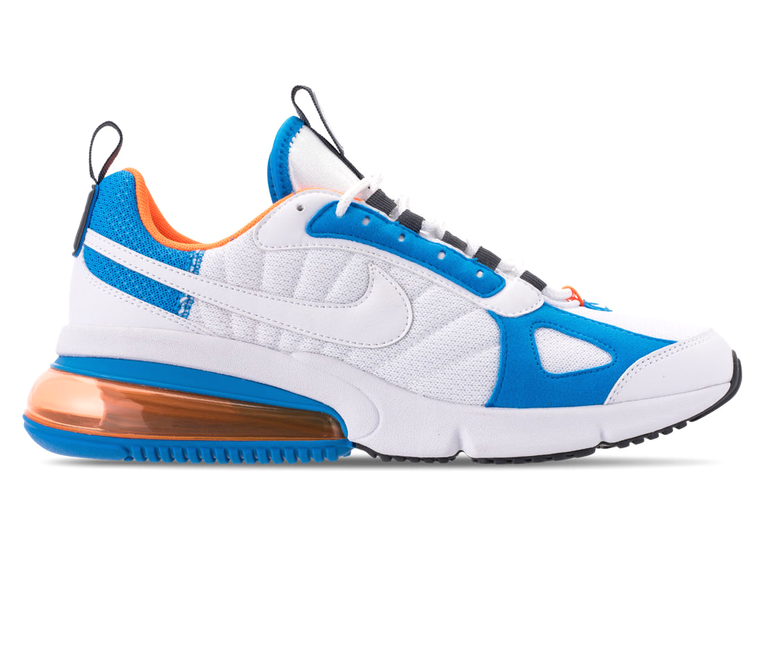 Nike Air Max 270 Futura White Blue Total Orange AO1569-100 Mens Shoes