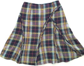 Susan Bristol Skirt 6 Plaid Lined - $19.79