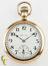 Hamilton Open Face Gold Filled Antique Pocket Watch Grade 992 16S 21 Jewel - $730.14