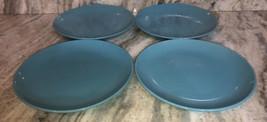 """Royal Norfolk Set Of 4 Turquoise Dinner Plates 10.75""""RARE-Brand NEW-SHIPS N 24HR - $39.48"""