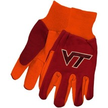 NCAA Sport Utility Work Gloves with Grippy Rubber Palm (Virginia Tech Maroon/... - $8.95