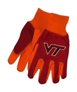 NCAA Sport Utility Work Gloves with Grippy Rubber Palm (Virginia Tech Ma... - $8.95