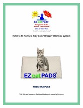 """40ct EZ Cat Replacement Pads for 16.9x11.4"""" National Branded Litter Box ... - $23.50"""