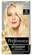 L'Oreal Preference 01 PRAGUE VERY VERY LIGHT NATURAL BLONDE Hair Dye LIG... - $17.03